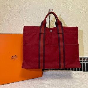 HERMES fuorre tout tote MM in red